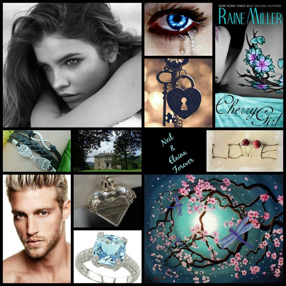 Thank you to the amazing Luna Sol for this gorgeous collage of pictures from the books.  That is Heath Hutchins and Barbara Palvin as muse for Neil and Elaina.